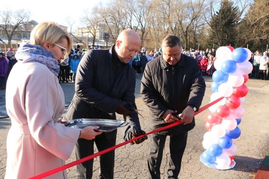 В Северске открыли первую в регионе площадку ГТО