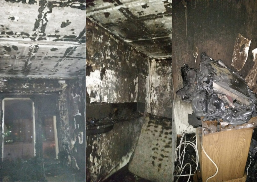 Северские пожарные спасли 25 человек на пожаре в девятиэтажном доме