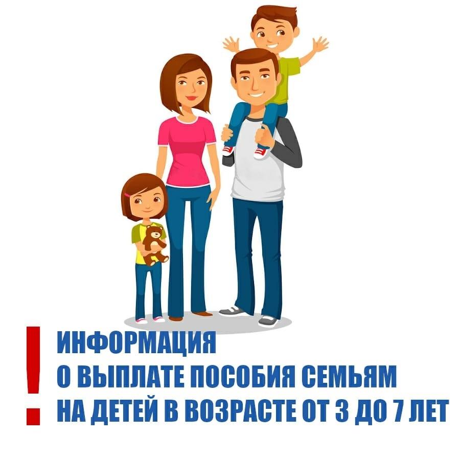 Порядок обращения за назначением ежемесячной денежной выплаты на ребенка в возрасте от 3 до 7 лет