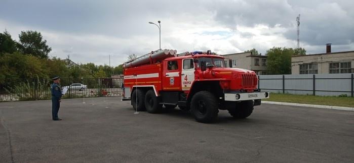 В городе выбрали лучшего водителя пожарного автомобиля
