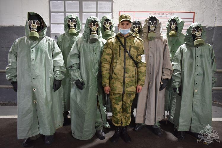 На территории воинской части прошли военные сборы студентов
