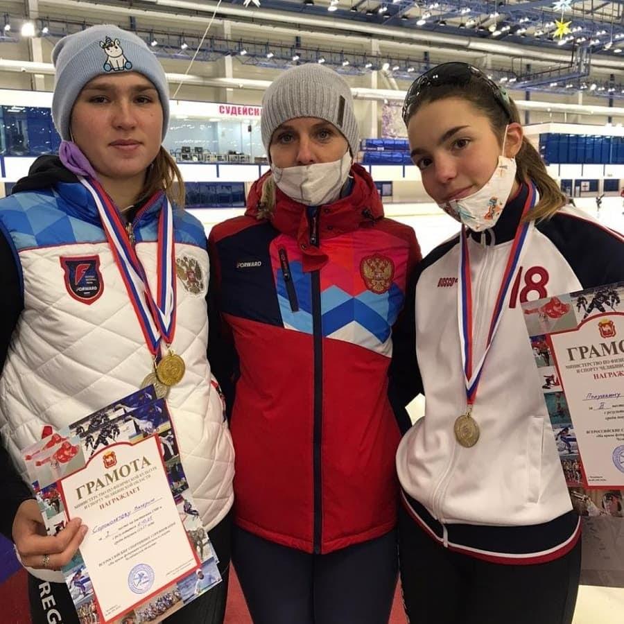 Северская конькобежка Валерия Сороколетова завоевала три золотых медали на всероссийских соревнованиях