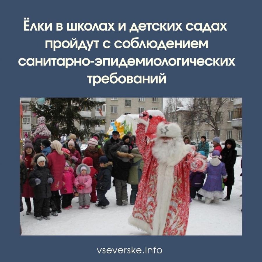 Ёлки в школах и детских садах Томской области пройдут с соблюдением санитарно-эпидемиологических требований