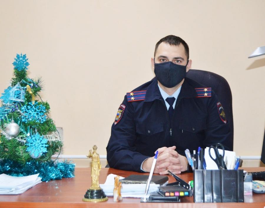 Поздравление заместителя начальника полиции УМВД России по ЗАТО Северск с наступающим Новым годом и Рождеством