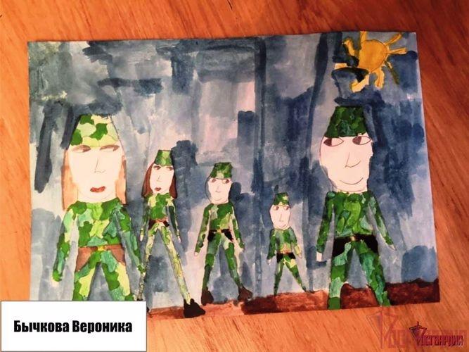 Дети военнослужащих северского соединения Росгвардии стали призёрами открытого муниципального конкурса «Есть такая профессия – Родину защищать»