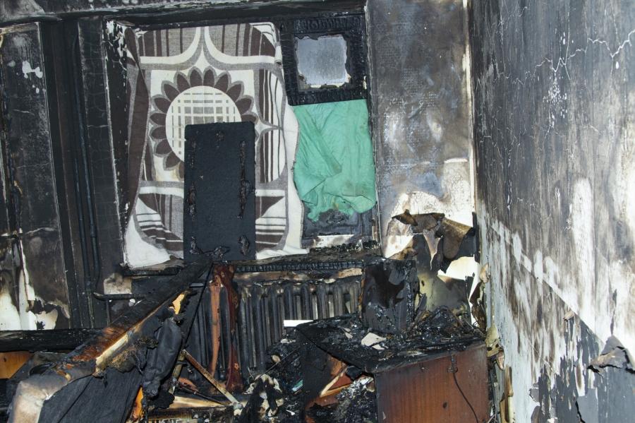45 человек эвакуировали из дома на улице Славского, 18, где произошел пожар