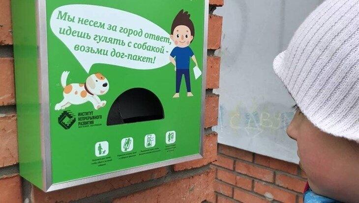 Первые дог-боксы для уборки за собаками появились в Северске