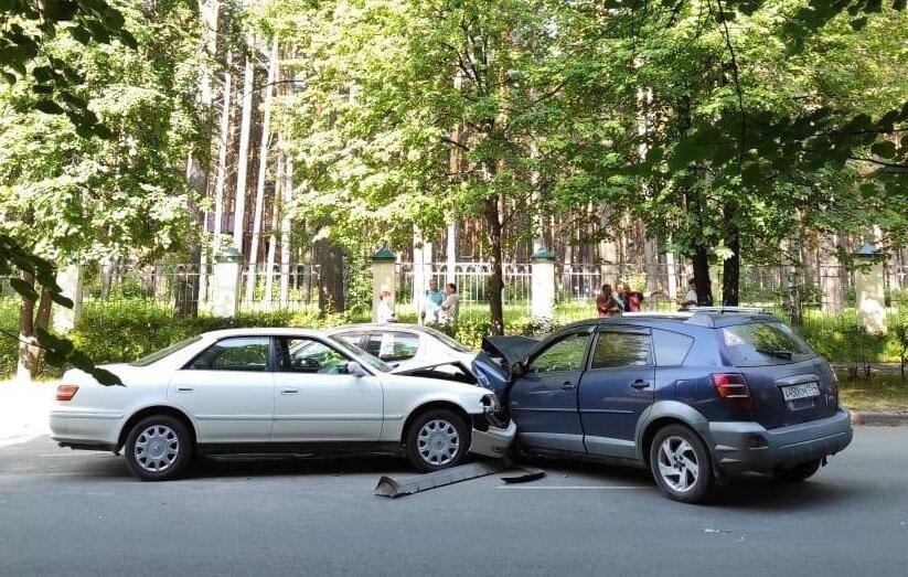 На улице Свердлова произошло ДТП