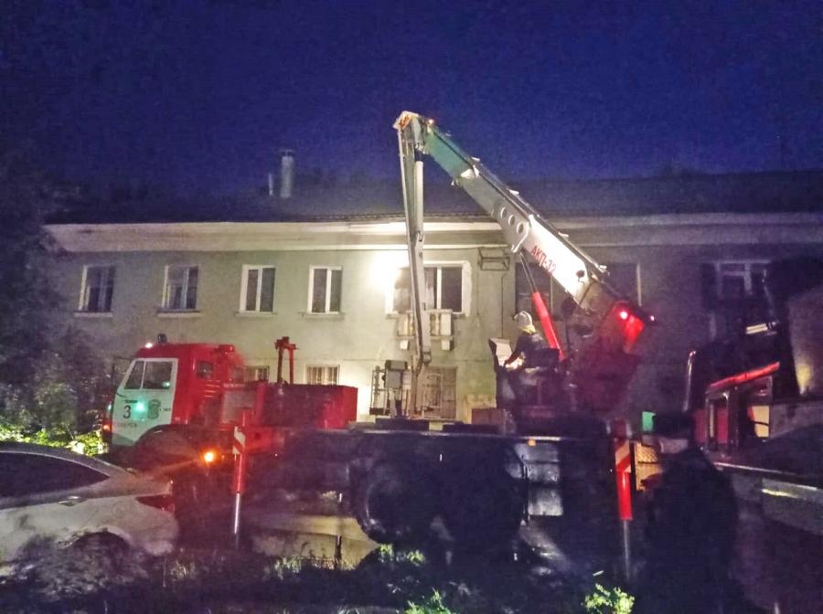 В жилом доме на улице Комсомольской произошел пожар