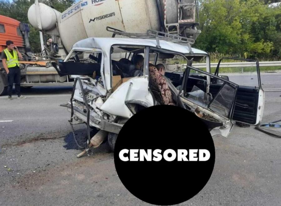 Женщина-пассажир погибла в ДТП с бетономешалкой