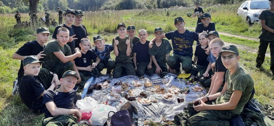 Северские кадеты приняли участие в военно-полевых сборах