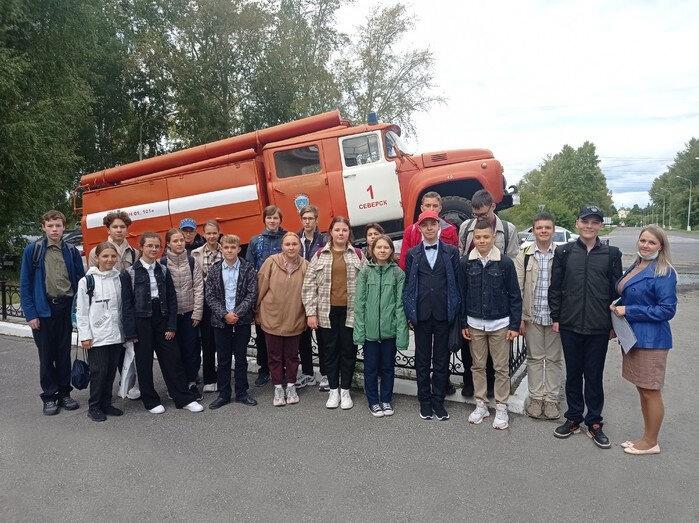 В гости к сотрудникам специальной пожарно-спасательной части № 1 пришли учащиеся Северского лицея