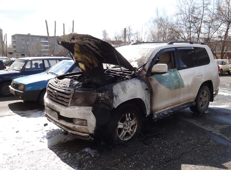 Поджог автомобиля Land Cruiser 200