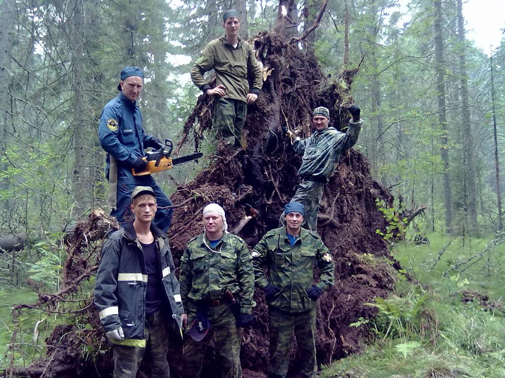Тайга 2012. Северские спасатели на тушении пожаров
